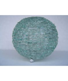 @Overstock - Update your home decor with this recycled glass lamp Handmade out of small pieces of recycled glass Lamp is wired together with rust free wirehttp://www.overstock.com/Worldstock-Fair-Trade/Natural-Glass-Ball-Lamp/2342040/product.html?CID=214117 $83.99