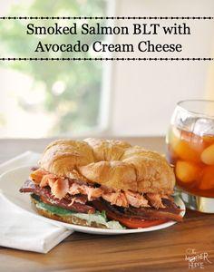 Smoked Salmon BLT With Avocado Cream Cheese Spread