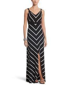 White House   Black Market Sleeveless Stripe Print Maxi Dress #whbm
