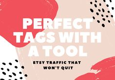 Action Plan: Perfect Etsy Tags With a Tool Etsy Seo, What To Sell, Free Courses, Action, Tools, How To Plan, Notebooks, Digital, Things To Sell