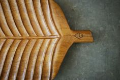 Wooden Serving Tray, Mid Century Modern, Statement Piece, Banana Leaf, Summer Entertaining, Tiki Party Table Decor...