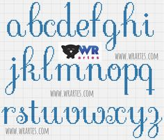 Gráfico alfabeto minúsculo para ponto cruz                                                                                                                                                     Mais