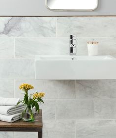 Natural Stone Bathroom Wall Tiles Uk - Image of Bathroom and Closet Marble Tile Bathroom, Marble Wall, Marble Tiles, Bathroom Flooring, Kitchen Tile, Tiling, Tiles For Bathrooms, Bathroom Wall Panels, Honed Marble