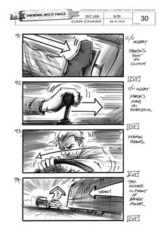 Image result for car chase storyboards