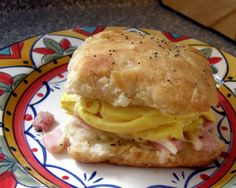 Best Biscuit Sandwich Ever!  And yes, that is a banana biscuit.