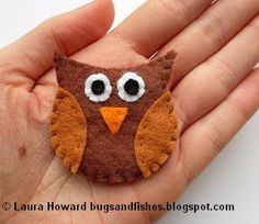 Bugs and Fishes by Lupin: How To: Felt Owl Brooch