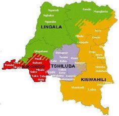 Congo's regions, cities & languages