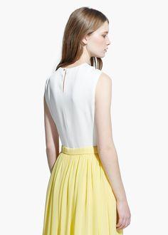 COUNTRY SPECIALS - Vestido largo bicolor