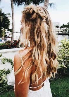 Single dutch braid Summer casual hairstyle braid braids braided casual highlights blonde pretty is part of Hair styles - Casual Hairstyles, Messy Hairstyles, Pretty Hairstyles, Hairstyle Braid, Beach Hairstyles For Long Hair, Teenage Hairstyles, Fashion Hairstyles, Holiday Hairstyles, Trending Hairstyles