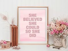 Pink Wall Art | Glitter Print | Quote Print | Printable Wall Art | Wall Art Print | Inspirational Art | Digital Print | Life Quote