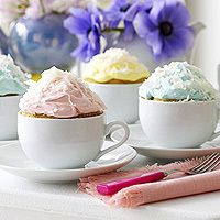 Teacup Cupcakes- They just look extra fancy this way! Maybe get some old china from a thrift shop?