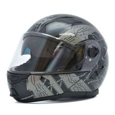 Mũ bảo hiểm lật cằm Royal M08 đen xám nhám