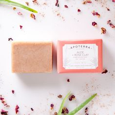 A gentle rose petal, pink clay, and aloe complexion soap // Aloe + Rose Clay Complexion Soap