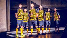Nike Launch Kaizer Chiefs Home Shirt - SoccerBible Kaizer Chiefs, Chiefs Logo, Anniversary Logo, Football Outfits, Football Kits, Graphic Design Inspiration, Champs, Black Stripes, The Past