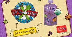 Ella's Kitchen Lil' Foodies Club! Free Foodie Starter Pack - US