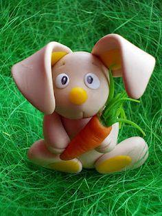 polymer clay bunny miniature
