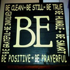 BE sign- another easy vinyl project/ gift