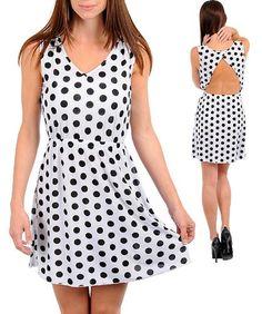 Polka Dot A-line dress « Dress Adds Everyday