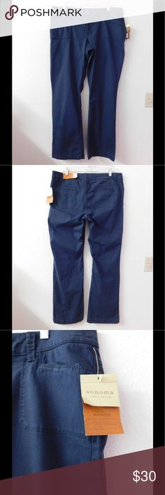 Cute Blue Sonoma Cut Out Jeans Life+Style NWT. These pair of jeans are really cute and adorable. Super comfy and soft material. Gorgeous color and exquisite style. Size 16 - Save $$$ on bundles. Sonoma Jeans Boot Cut