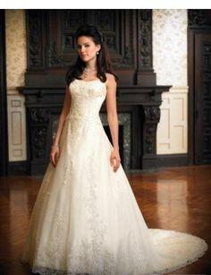 A-Line/Princess Bateau Chapel Train  wedding dress (WD1120.  So beautiful