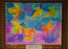 Art Projects from MN Art Gal: autumn paintings...