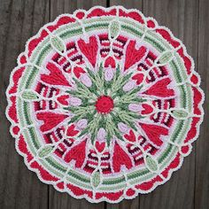 Crochet Overlay Mandala  No. 4 Pattern PDF by CAROcreated on Etsy, €5.50