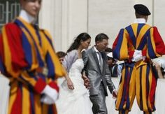 How would you like to be married by Pope Francis?