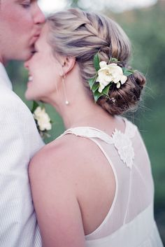 Graceful Wedding Updos With Braids ❤ See more: http://www.weddingforward.com/wedding-updos-with-braids/ #weddings