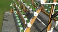 Homemade vertical (A-Frame) hydroponic system Facebook https://www.facebook.com/greenerways.....Find an all natural spray to use cuz we had to take all of our plants out after the pipe became INFESTED with millions of ants.