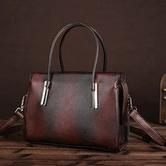 1722f128d3cc High-quality Women Oil Wax Leather Tote Bag Retro Shoulder Bags Handbags -  NewChic Mobile