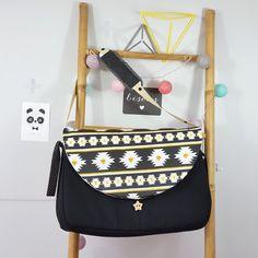 sac à langer lilaxel noir et ethnique chic - www.lepetitmondedelilaxel.com