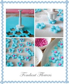 How to make fondant flowers http://toriejayne.blogspot.com/2011/04/fondant-flowers.html