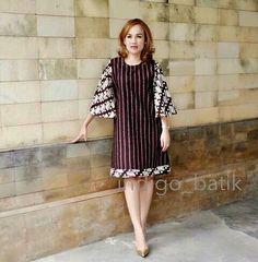 33 New Ideas For Dress Hijab Kombinasi Simple Dresses, Nice Dresses, Casual Dresses, Short Dresses, Model Dress Batik, Batik Dress, African Fashion Dresses, African Dress, Dress Batik Kombinasi