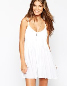 $40.00 -- ASOS Pintuck Pleat Strappy Beach Dress