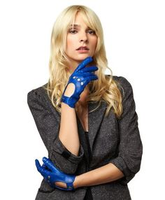 Women's Italian Leather Driving Gloves
