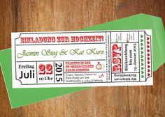 Hochzeitskarte Einladung selber drucken PDF Ticket von Something Old Something New Something Borrowed Something Blue auf DaWanda.com
