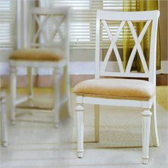 dining room chair in antique white