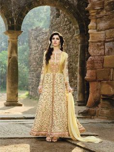 Buy online designer yellow color floor length indian anarkali dress collection for festival and party. ZaraaFab offers best collection of fashionable anarkali salwar kameez online at reasonable price. #yellowanaraklisuit #floorlengthdress #designeranarkali #indiansalwarsuit #designerwear #salwarkameez #indianfashion #pakistanifashion #indianwear #bollywoodfashion #onlineshopping #pakistanidress #shipping #UK #USA #France #Germany #Denmark #Europe