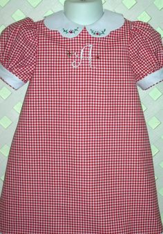 Monogram Dress Gingham by GumdropGrove on Etsy, $48.00