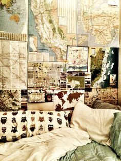 I would definitely not mind having maps for wallpaper... it screams hipster, but it os ohh so cute