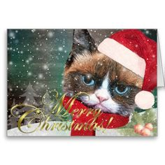 Meowy Christmas Greeting Card