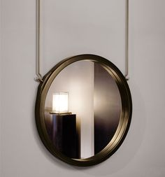 Beech wood frame mirror with bronze finishing. Spiegel Design, Architecture Restaurant, Modern Powder Rooms, Mirror Panels, Dressing Mirror, Wood Framed Mirror, Luxury Homes Dream Houses, Mirror With Lights, Round Mirrors