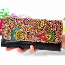 Resultado de imagen para carteras de cuero pintadas a mano