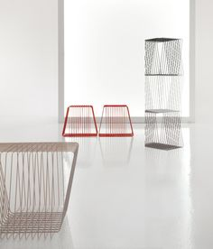 Bonaldo has begun a new and interesting partnership with Afroditi Krassa, the vivacious young Greek designer based in London. The first object created was the ICosì occasional table, a simple geometric structure made u
