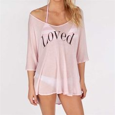 bdbb1e94097 Wildfox Couture Juniors Loved Swim Cover-Up  VonMaur  WildfoxCouture  Pink   Sheer