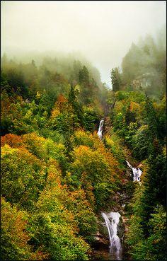 Giessbach Falls, near Canton of Bern, Switzerland