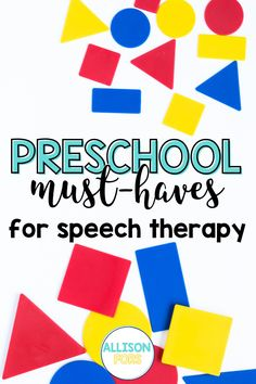 These are some of the BEST toys, games, books, and supplies for toddlers and preschoolers for speech therapy. Check out my must-have list of speech therapy toys for SLPs and teachers that kids are sure to love. Intentional play with toddlers is a great way to work on functional, meaningful language. Preschool Speech Therapy, Speech Therapy Activities, Articulation Activities, Language Activities, Teaching Social Skills, Activity Ideas, Therapy Ideas, Speech And Language, Autism