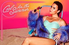"""Issa De' Mar San Sebastian One-Piece Swimsuit – Demi Lovato in a Issa De' Mar one-piece on the cover of her new single """"Cool for the Summer"""". Swimsuit: Issa De' Mar San Sebastian One-Piece Swimsuit Buy – Katy Perry, Calvin Harris, Jimmy Fallon, Hollywood Life, Hollywood Celebrities, Hollywood Records, Female Celebrities, Disney Channel, Demi Lovato 2015"""