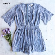 0dfe29168e0 as you wish embroidered lace romper (women) - more colors
