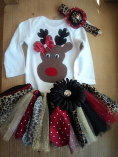 8d29491a469b4 Reindeer Christmas Tutu Outfit by cheerfuldianna80 on Etsy Christmas Tutu, Reindeer  Christmas, Christmas Sweaters
